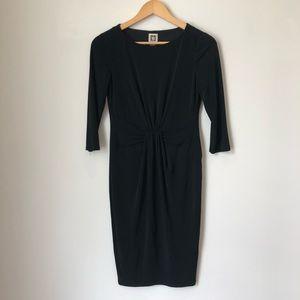 Anne Klein Long Sleeve Little Black Dress